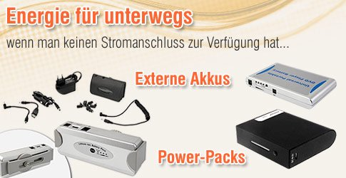 Externer Akku, Power-Pack